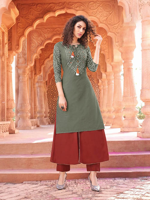 DESIGNER INDIAN KURTI- BT-K-R-90006-M