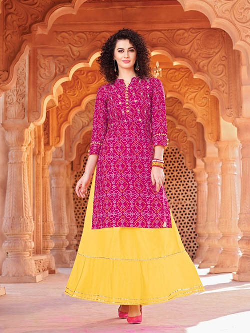DESIGNER INDIAN KURTI - BT-K-R-90007-M