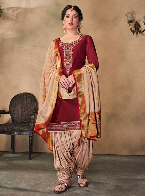 DESIGNER INDIAN SALWAR KAMEEZ - BT-SK-R-30506-XL