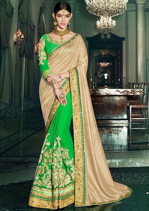 PARTY WEAR INDIAN SILK SAREE - BT-SR-40113