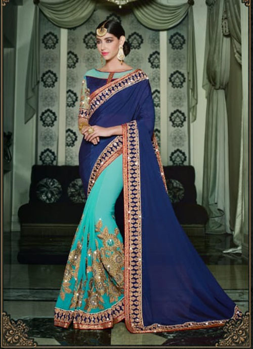 PARTY WEAR INDIAN SILK SAREE - BT-SR-40115