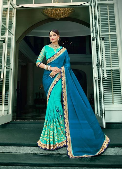 PARTY WEAR INDIAN SILK SAREE - BT-SR-40117