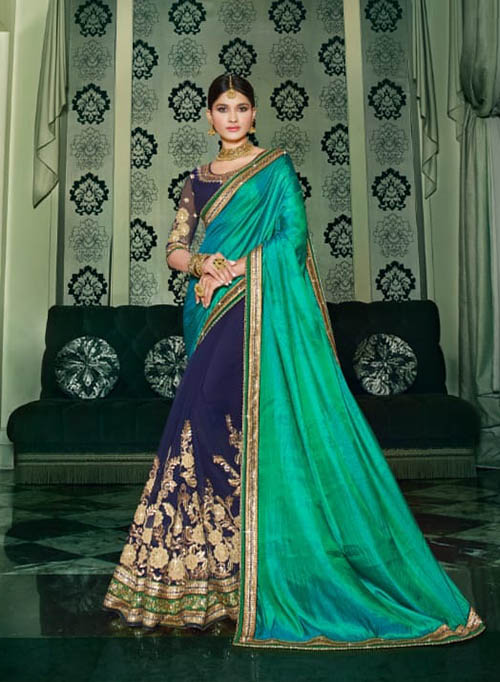 PARTY WEAR INDIAN SILK SAREE - BT-SR-40118