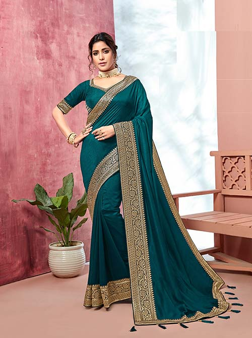 PARTY WEAR INDIAN SILK SAREE - BT-SR-40131
