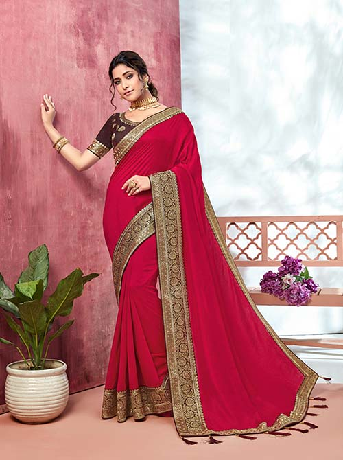PARTY WEAR INDIAN SILK SAREE - BT-SR-40132