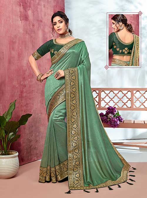 PARTY WEAR INDIAN SILK SAREE - BT-SR-40133
