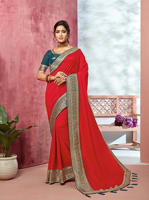 PARTY WEAR INDIAN SILK SAREE - BT-SR-40134
