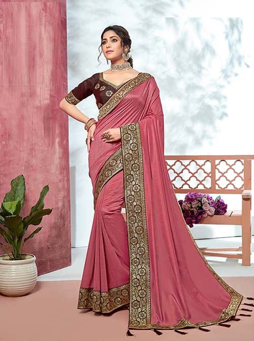 PARTY WEAR INDIAN SILK SAREE - BT-SR-40136