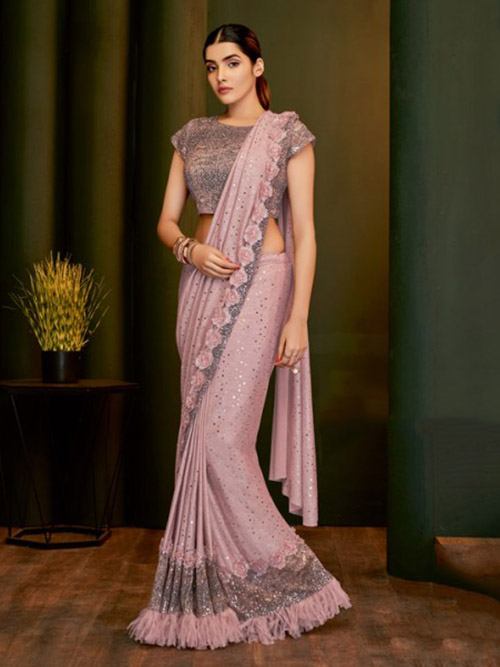 PARTY WEAR INDIAN SILK SAREE - BT-SR-40145