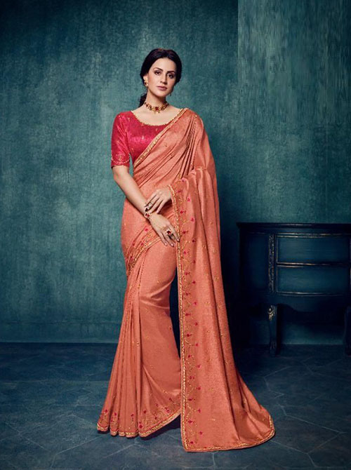 PARTY WEAR INDIAN SILK SAREE - BT-SR-40183