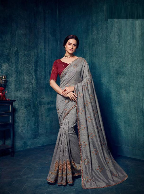PARTY WEAR INDIAN SILK SAREE - BT-SR-40187