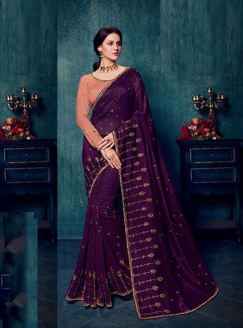PARTY WEAR INDIAN SILK SAREE - BT-SR-40188