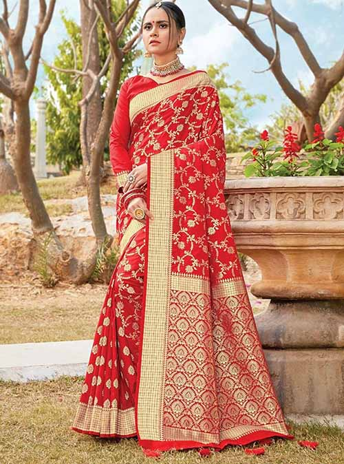 PARTY WEAR INDIAN SILK SAREE - BT-SR-40221