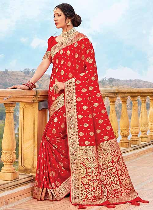 PARTY WEAR INDIAN SILK SAREE - BT-SR-40225