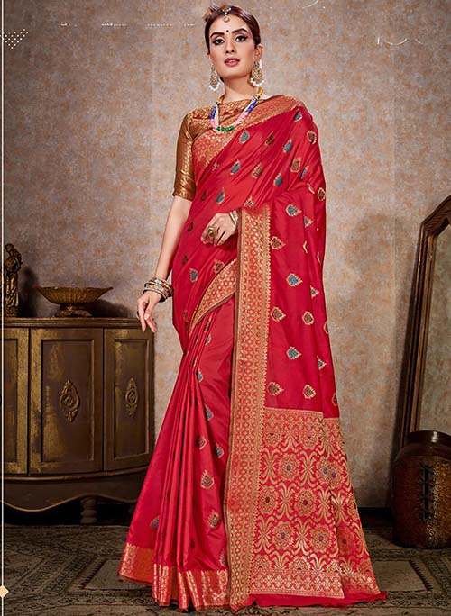 PARTY WEAR INDIAN SILK SAREE - BT-SR-40243