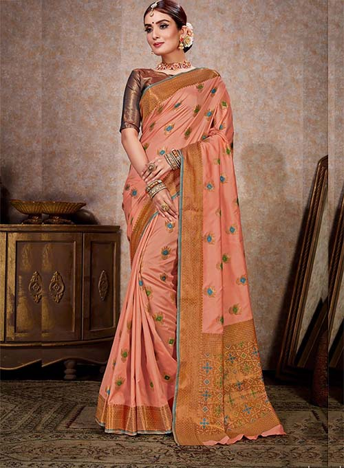 PARTY WEAR INDIAN SILK SAREE - BT-SR-40244