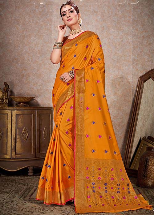 PARTY WEAR INDIAN SILK SAREE - BT-SR-40245