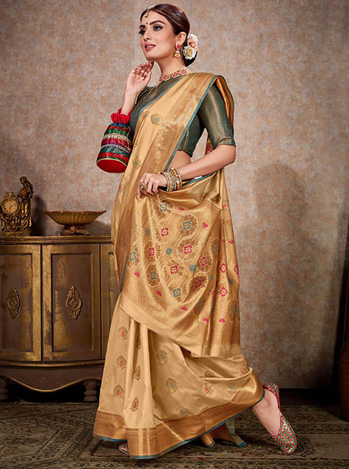 PARTY WEAR INDIAN SILK SAREE - BT-SR-40248