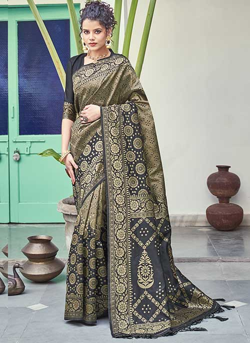 PARTY WEAR INDIAN SILK SAREE - BT-SR-40261