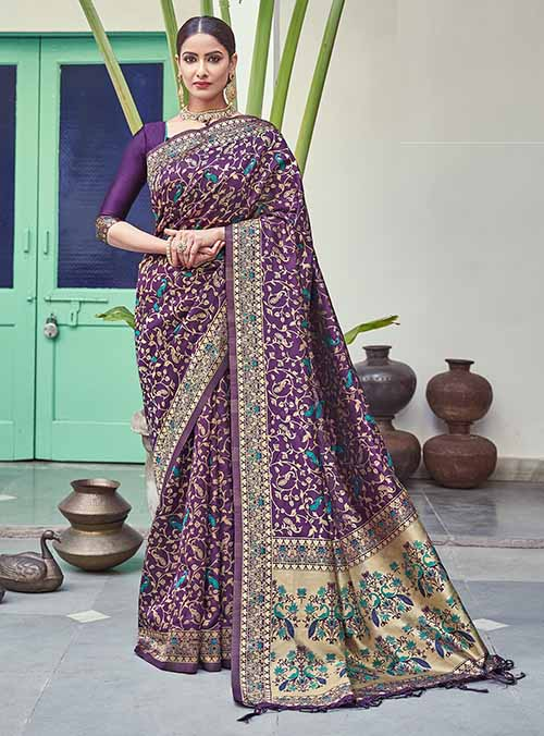PARTY WEAR INDIAN SILK SAREE - BT-SR-40262