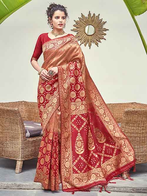 PARTY WEAR INDIAN SILK SAREE - BT-SR-40263