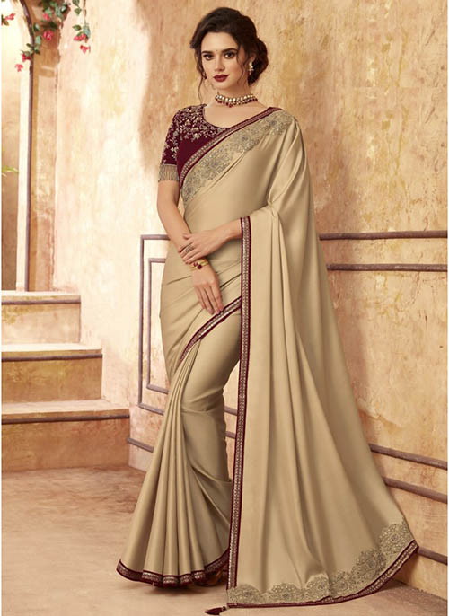 PARTY WEAR INDIAN SILK SAREE - BT-SR-40274