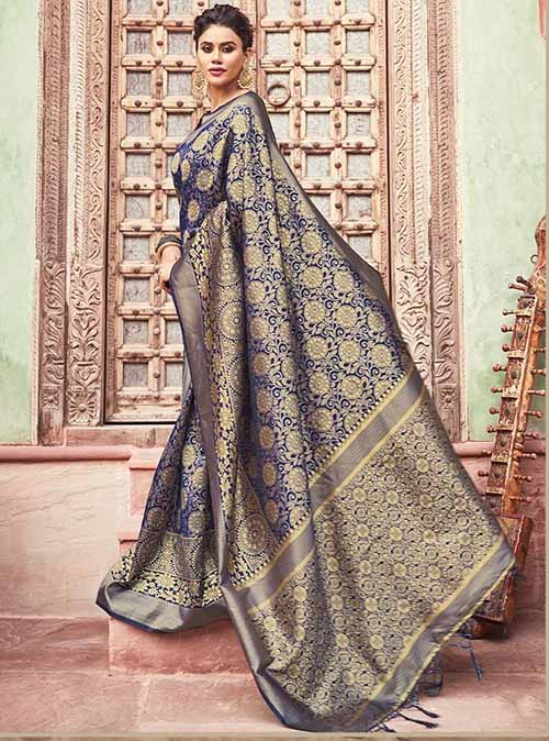 PARTY WEAR INDIAN SILK SAREE - BT-SR-40277