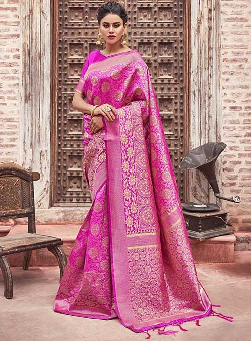 PARTY WEAR INDIAN SILK SAREE - BT-SR-40281