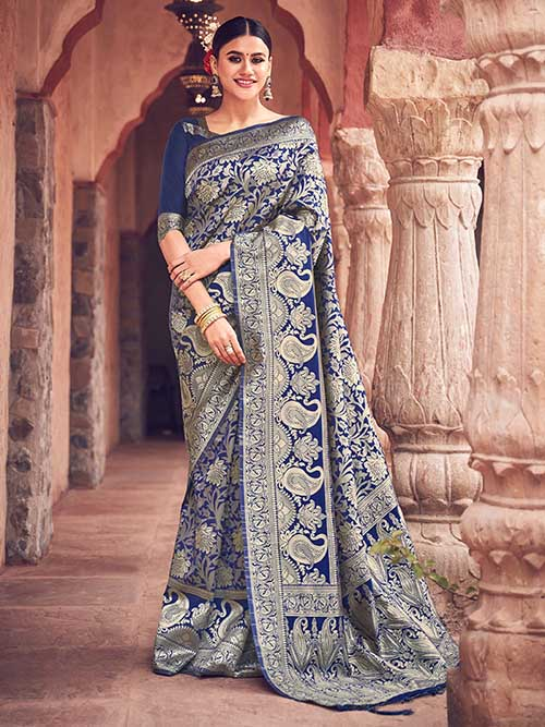 PARTY WEAR INDIAN SILK SAREE - BT-SR-40282