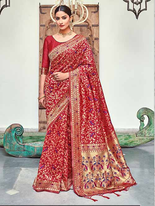 PARTY WEAR INDIAN SILK SAREE - BT-SR-40256