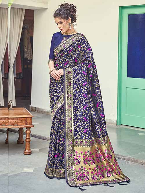 PARTY WEAR INDIAN SILK SAREE - BT-SR-40257