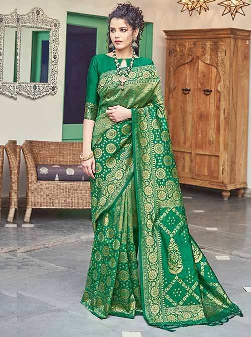 PARTY WEAR INDIAN SILK SAREE - BT-SR-40258