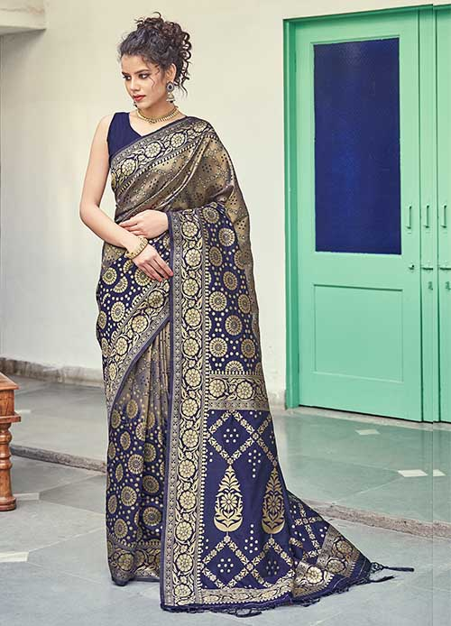 PARTY WEAR INDIAN SILK SAREE - BT-SR-40259