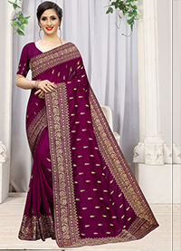 PARTY WEAR INDIAN SILK SAREE - BT-SR-40294