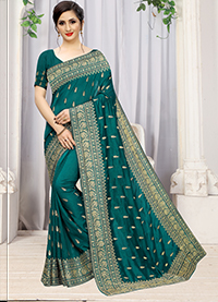 PARTY WEAR INDIAN SILK SAREE - BT-SR-40295