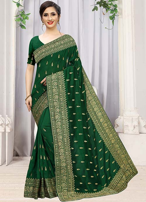 PARTY WEAR INDIAN SILK SAREE - BT-SR-40296