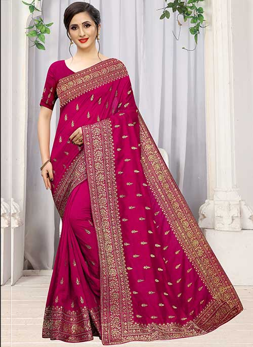 PARTY WEAR INDIAN SILK SAREE - BT-SR-40297
