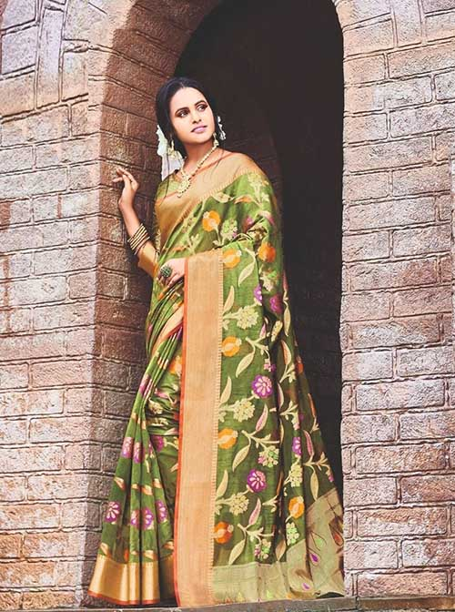 PARTY WEAR INDIAN SILK SAREE - BT-SR-40313