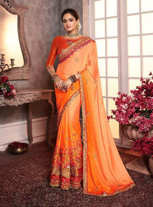PARTY WEAR INDIAN SILK SAREE - BT-SR-40393