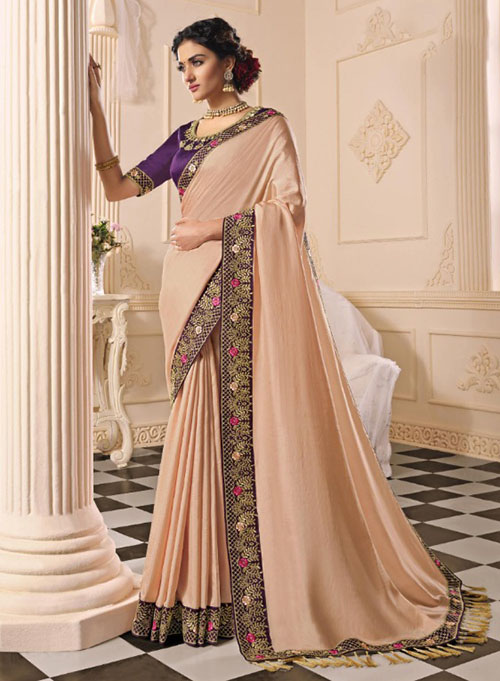 PARTY WEAR INDIAN SILK SAREE - BT-SR-40399