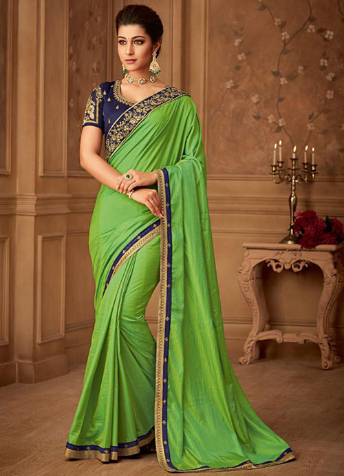 PARTY WEAR INDIAN SILK SAREE - BT-SR-40400