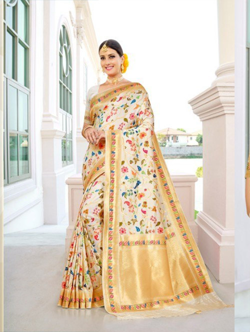PARTY WEAR INDIAN SILK SAREE - BT-SR-40405