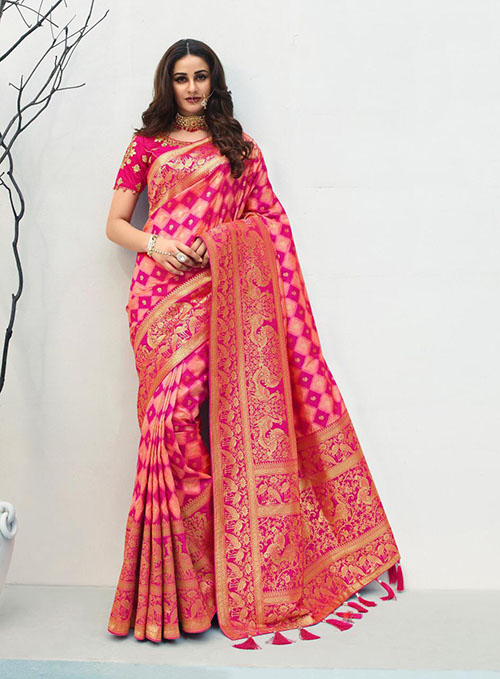 PARTY WEAR INDIAN SILK SAREE - BT-SR-40410
