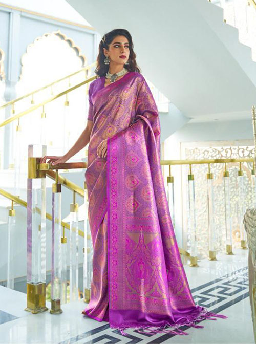 PARTY WEAR INDIAN SILK SAREE - BT-SR-40416