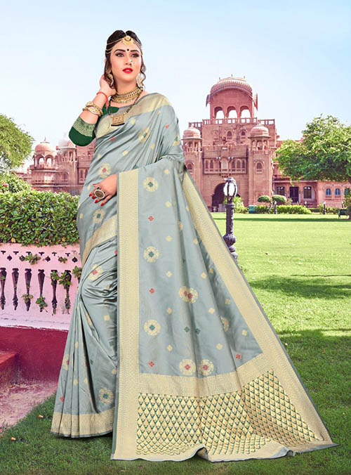PARTY WEAR INDIAN SILK SAREE - BT-SR-40427