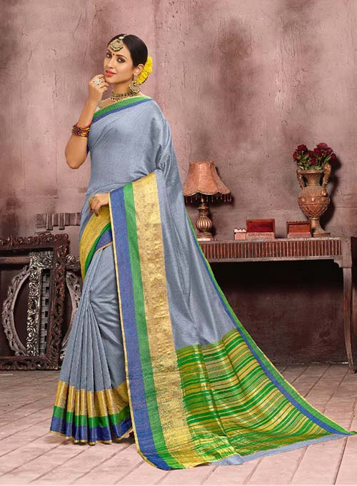 PARTY WEAR INDIAN SILK SAREE - BT-SR5318