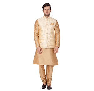 JACKET KURTA PYJAMA SET CHURIDAAR
