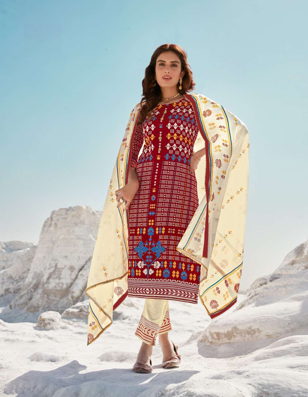 DESIGNER INDIAN SALWAR KAMEEZ - BT-SK-R-30819-4XL - $59.99
