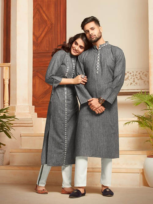 DESIGNER INDIAN KURTA PAJAMA-BT-KP-600033-M