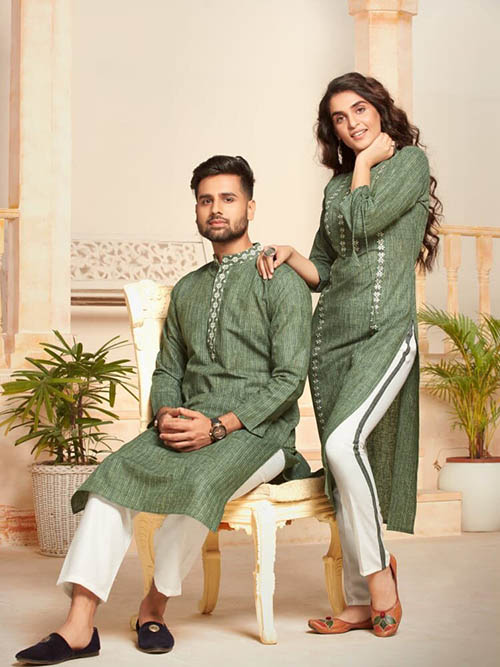 DESIGNER INDIAN KURTA PAJAMA-BT-KP-600034-M